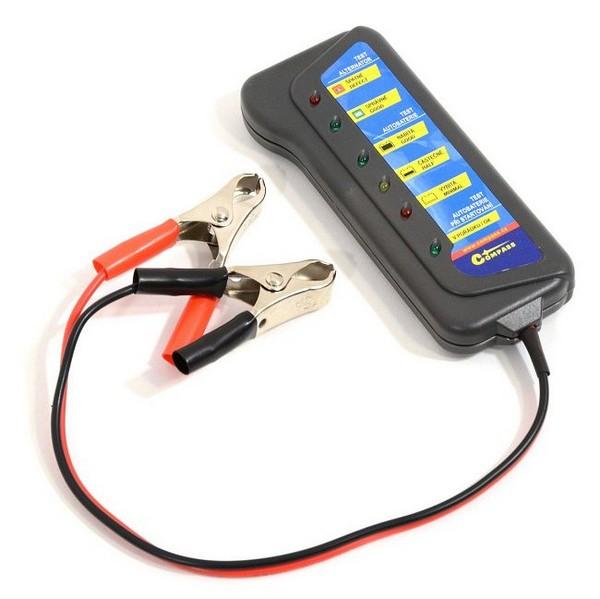 Tester autobaterie a alternátoru Compass 12 V