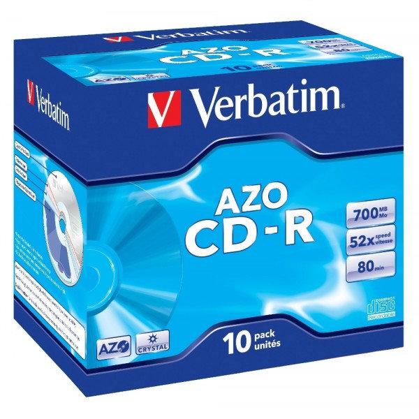 Disk Verbatim CD-R 700MB/80min, 52x, jewel box, 10ks