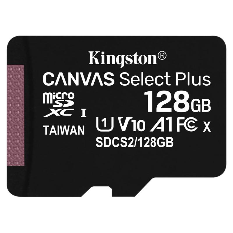 Paměťová karta Kingston Canvas Select Plus MicroSDXC 128GB UHS-I U1 (100R/10W)