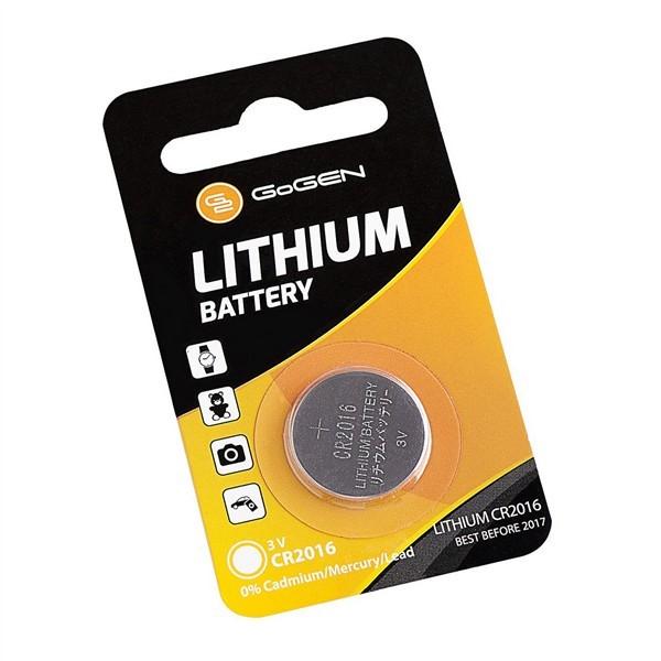 Baterie lithiová GoGEN CR2016, blistr 1ks