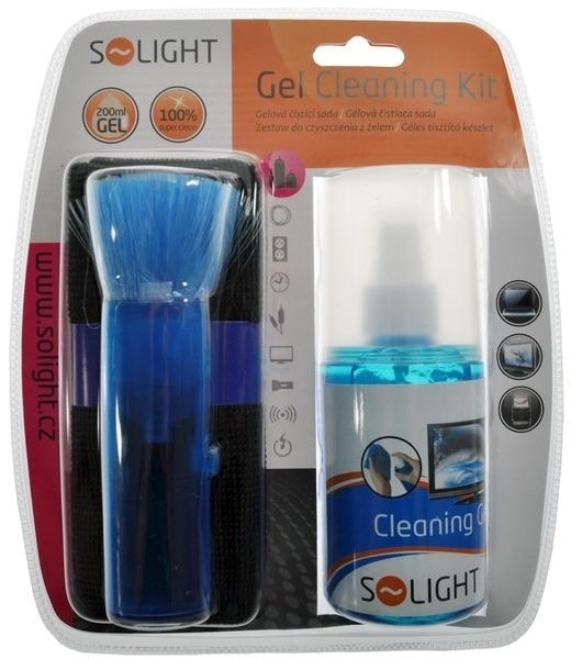 Čisticí sada Solight CD & TV Gelová čisticí sada, 200ml, štetec, hadřík