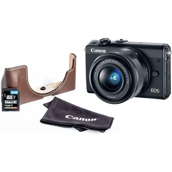Digitální fotoaparát Canon EOS M100 + EF-M 15-45mm + EH31FJ + 16GB,