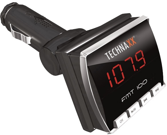 FM transmitter Technaxx FMT100, MP3 přehrávač, LCD, AV JACK