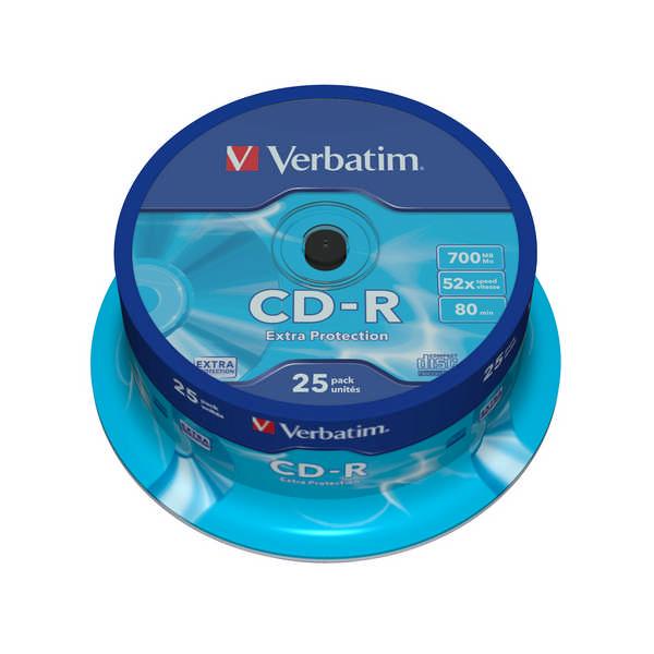 Disk Verbatim CD-R DL 700MB/80min, 52x, Extra Protection, 25cake