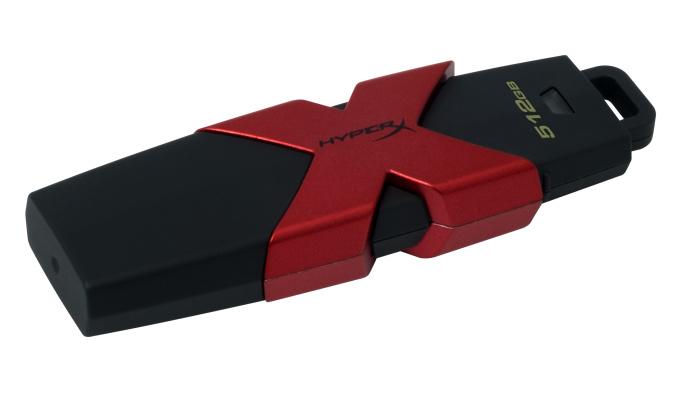 Flash USB Kingston HyperX Savage 512GB USB 3.0 - černý/červený