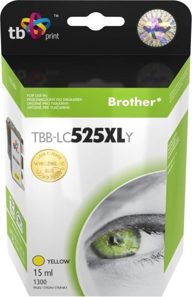 Inkoustová náplň TB LC525XLY pro tiskárny Brother DCP-J100/DCP-J105/MFC-J200 - žlutá