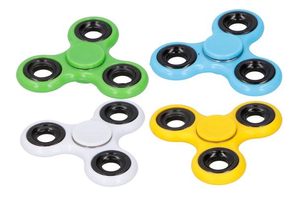 Fidget Spinner BeFree 4 barevné varianty (modrá, bílá, žlutá, zelená)
