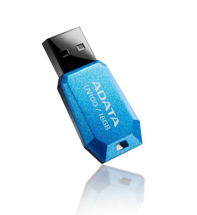 Flash USB ADATA UV100 16GB USB 2.0 - modrý