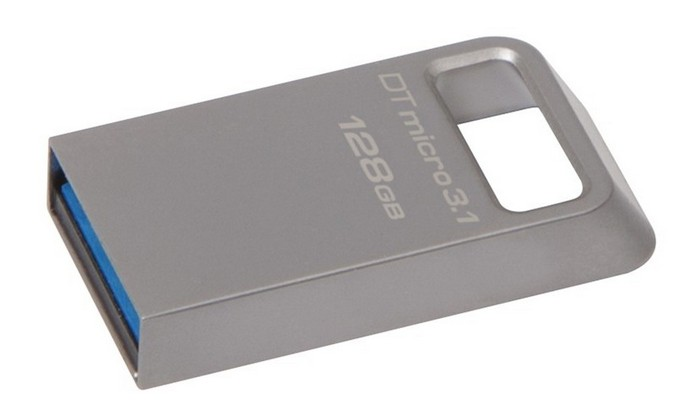 Flash USB Kingston DataTraveler Micro 3.1 128GB USB 3.1 - kovový
